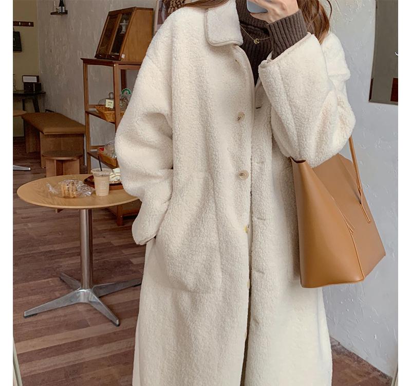 ct3274 dumble fleece long coat