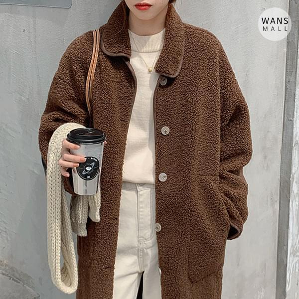 ct3274 dumble fleece long coat 大衣