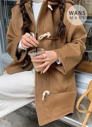 韓國空運 - ct3275 Eisen Tteokbokki Button Half Coat 大衣外套