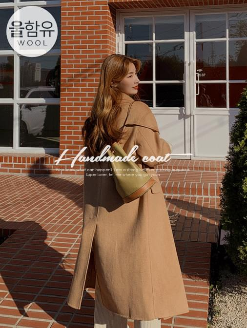 Lemain handmade wool double long coat