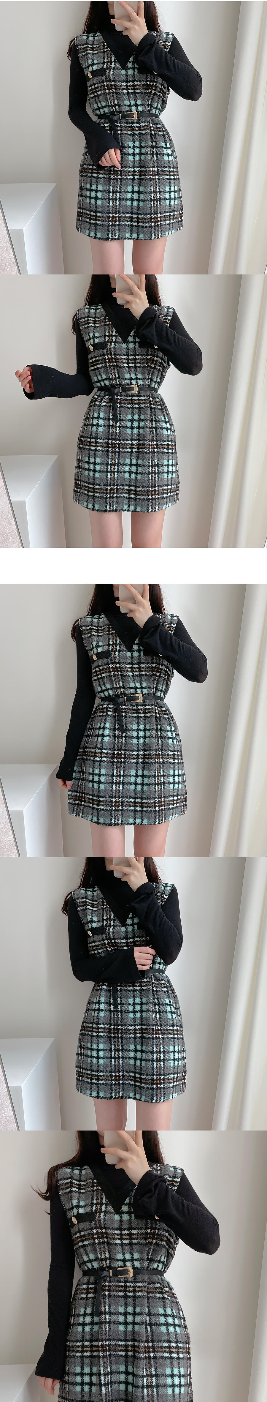 Jenny Check Dress 2color