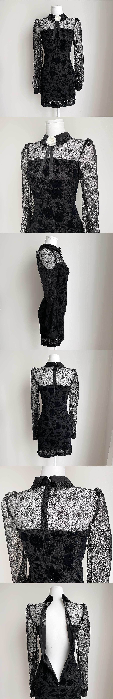 Bianc Lace Floral Dress 2color