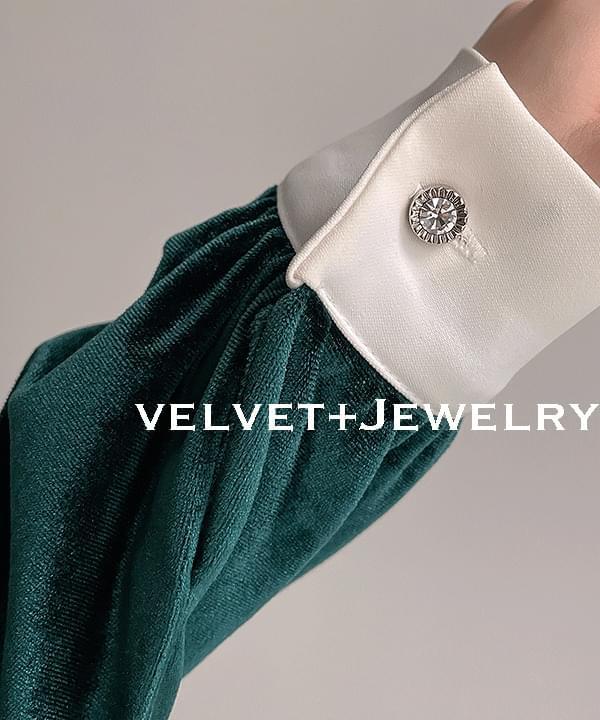 Verdi Velvet Blouse 2color
