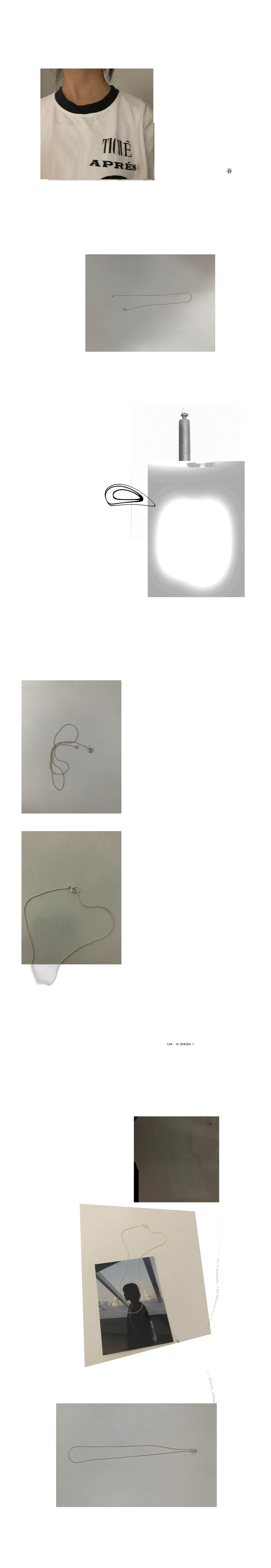 simple line silver necklace