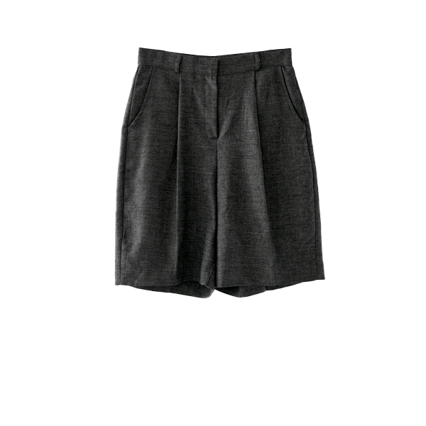 natural linen two-piece - shorts