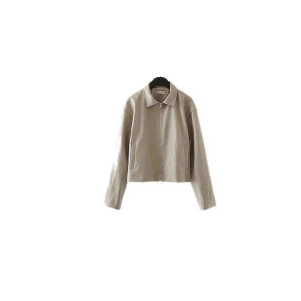wild fake leather jacket