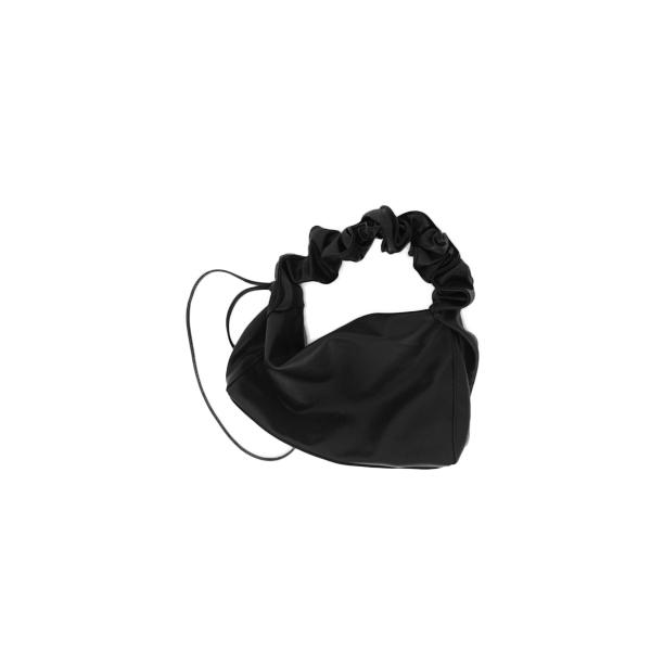 square shirring shoulder bag