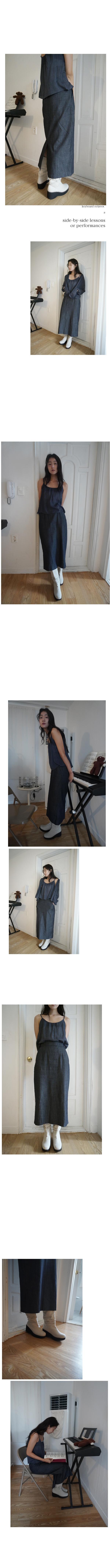 tidy denim long skirt