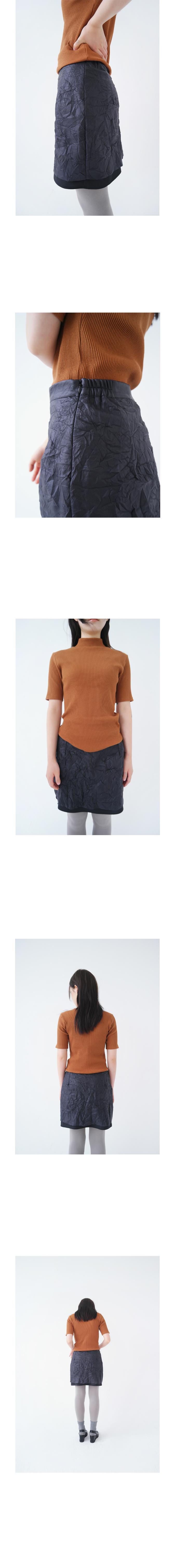 layering wrinkle texture skirt