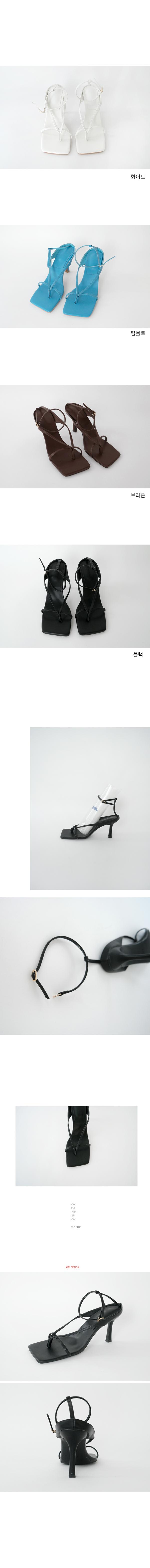 cross thin strap middle heel