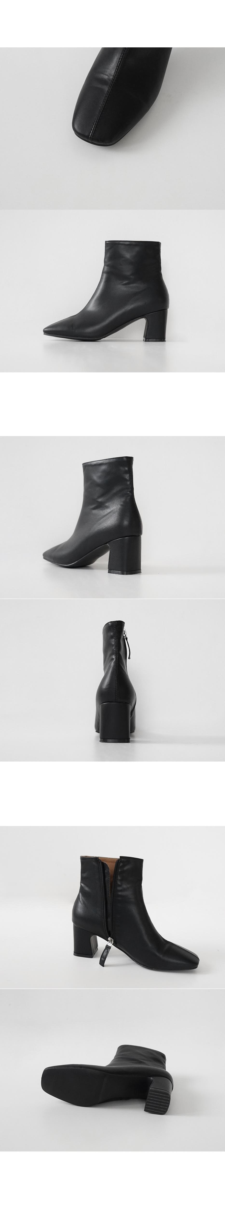 center stitch ankle boots (3colors)