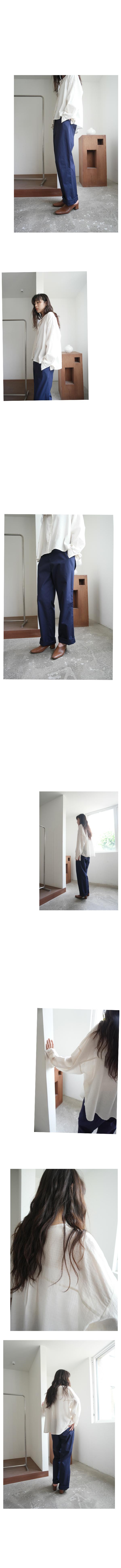 henley neck pale stripe shirt