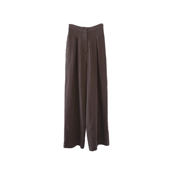 maxi linen pintuck pants