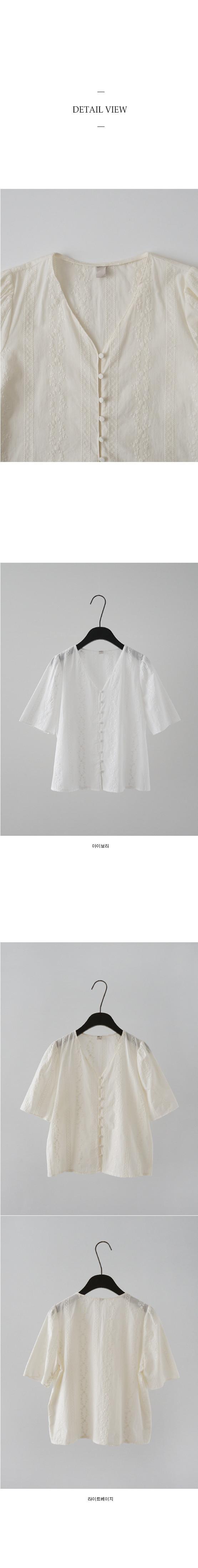 lace detail button blouse