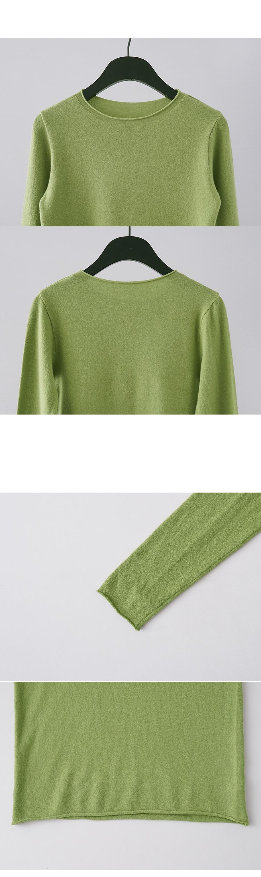 slim fit cut off detail knit