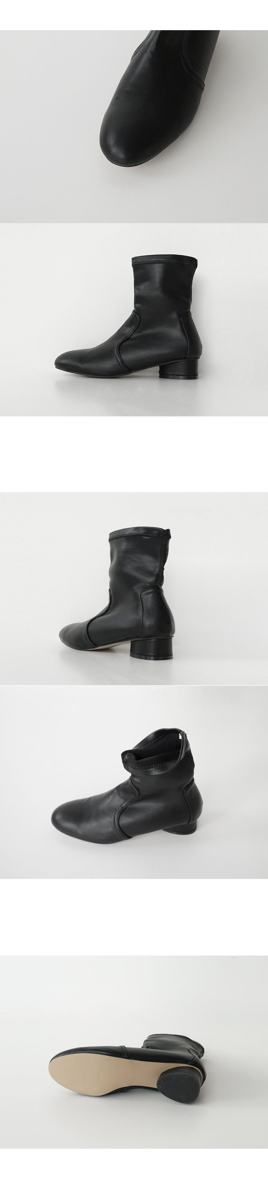 2 type texture non-zipper boots (6colors)