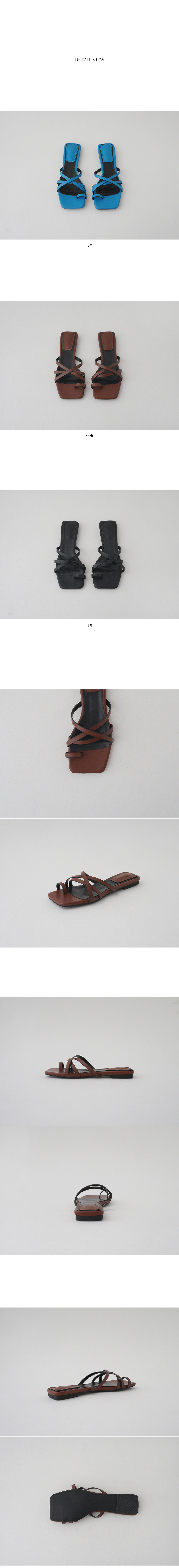 square toe cross strap slipper
