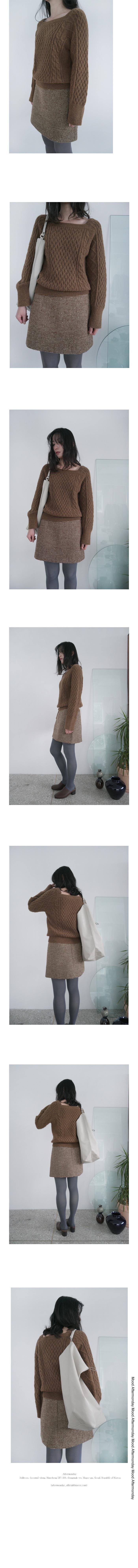 wool plaid set - skirt