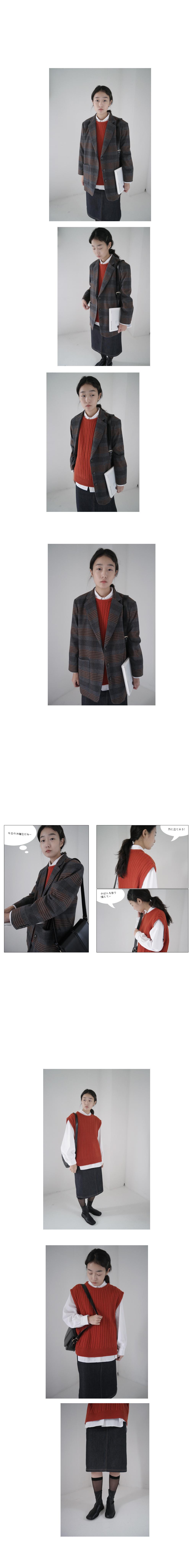 center line shoulder bag (3colors)