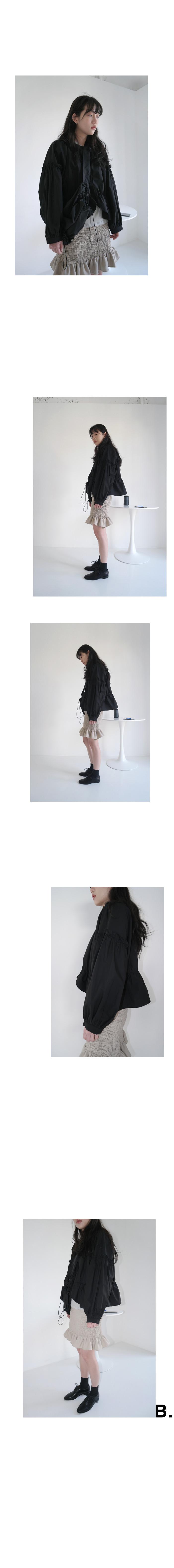 smocking frill mini skirts