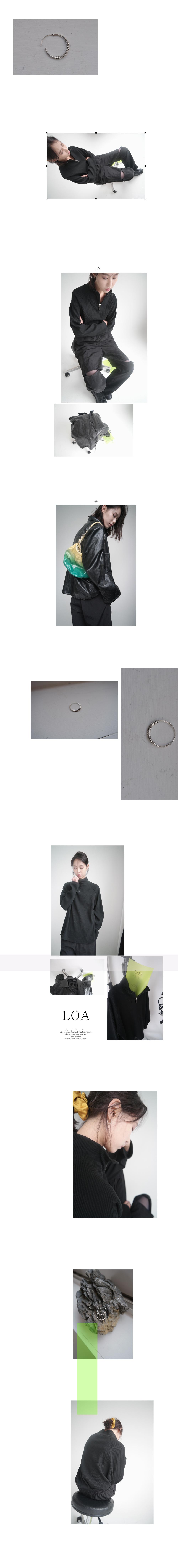 twist point earrings (2size)