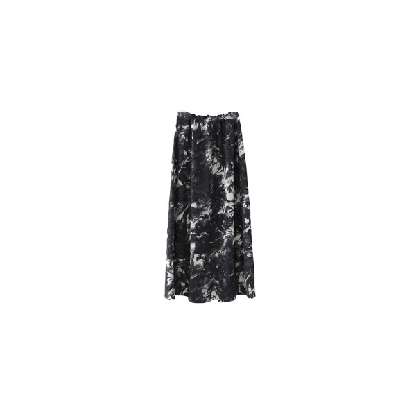 wave painting skirt