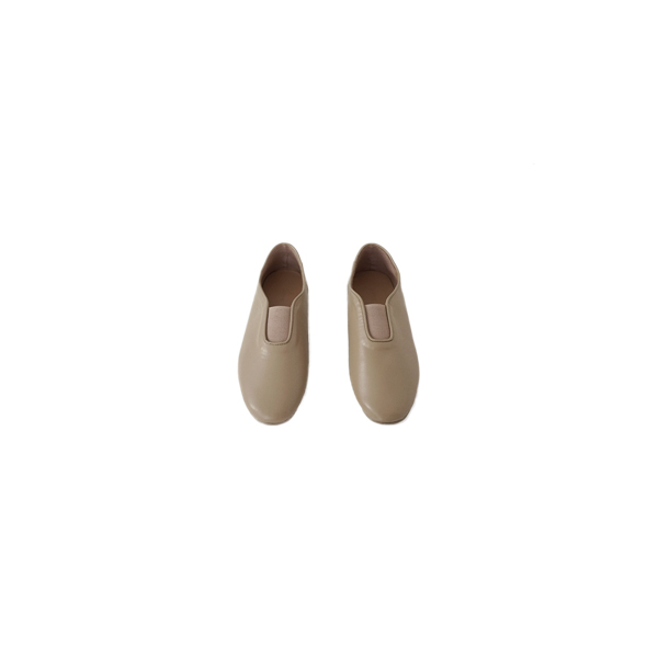 round toe banding flat shoes