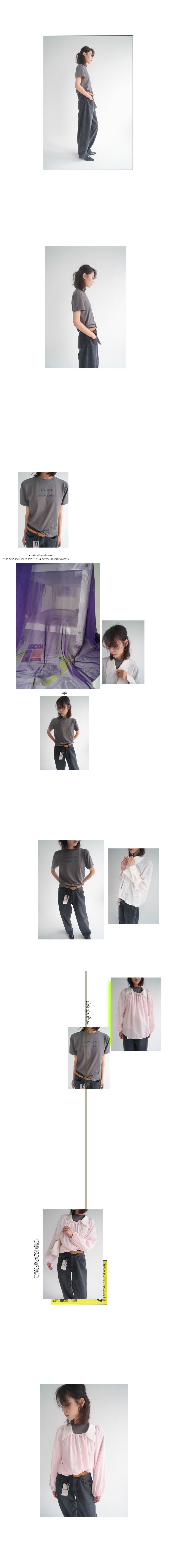 froides printing half sleeve top (3colors)