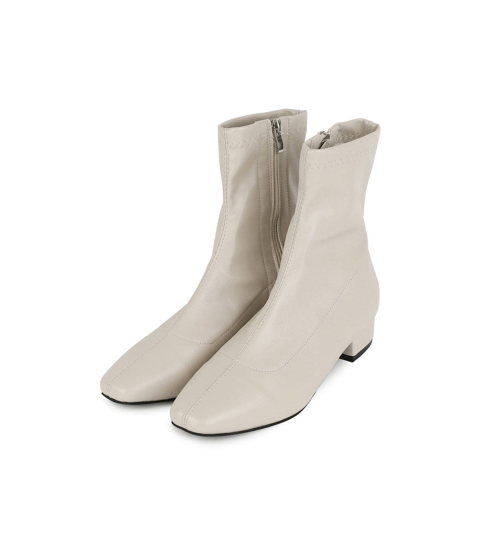 Terraced skinny ankle boots