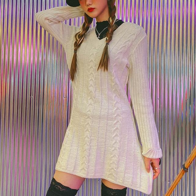Flare Bleak Knit Dress