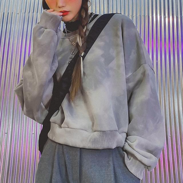 Pigment Runda Raised sweat shirt 長袖