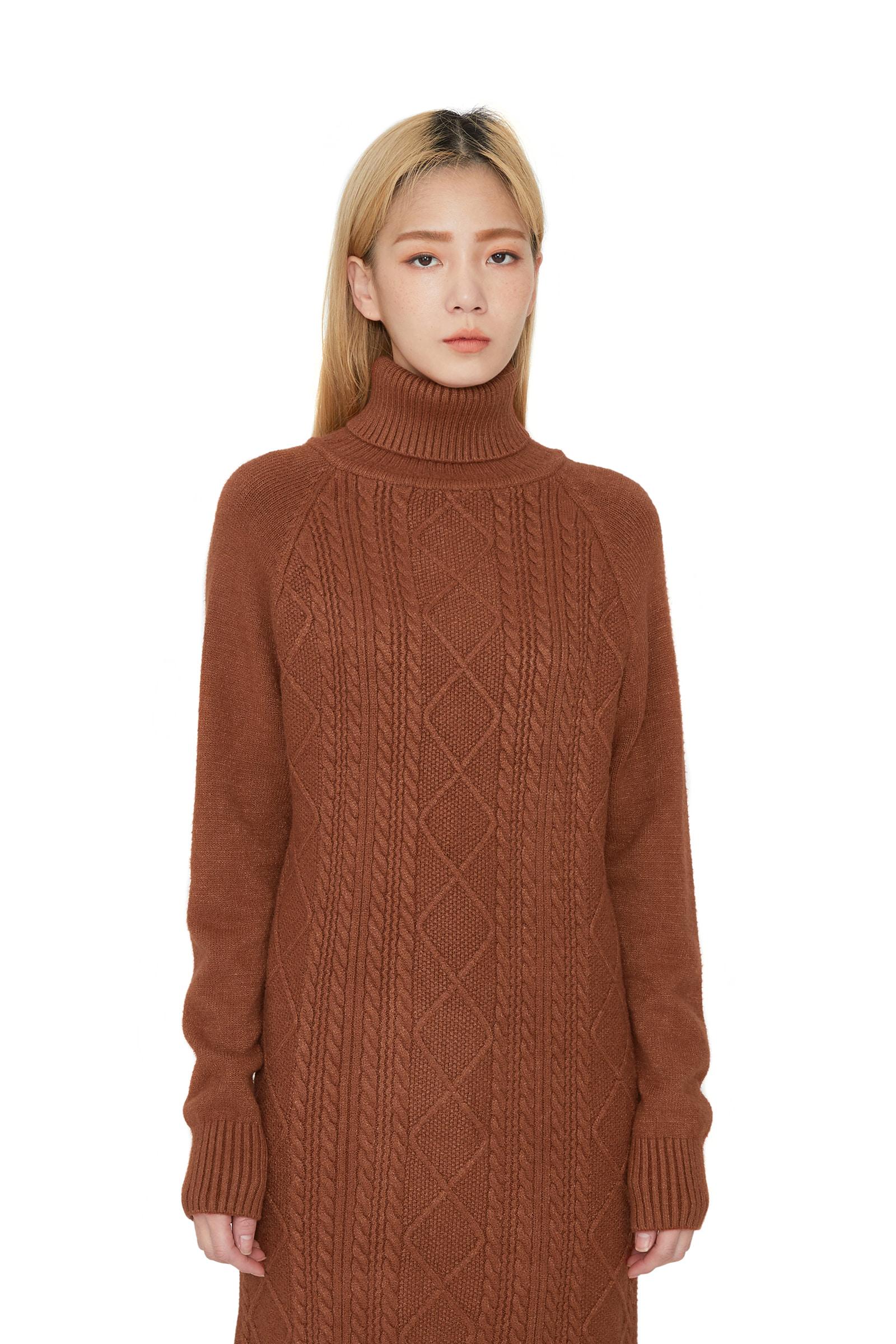 Lulu diamond-knit midi dress