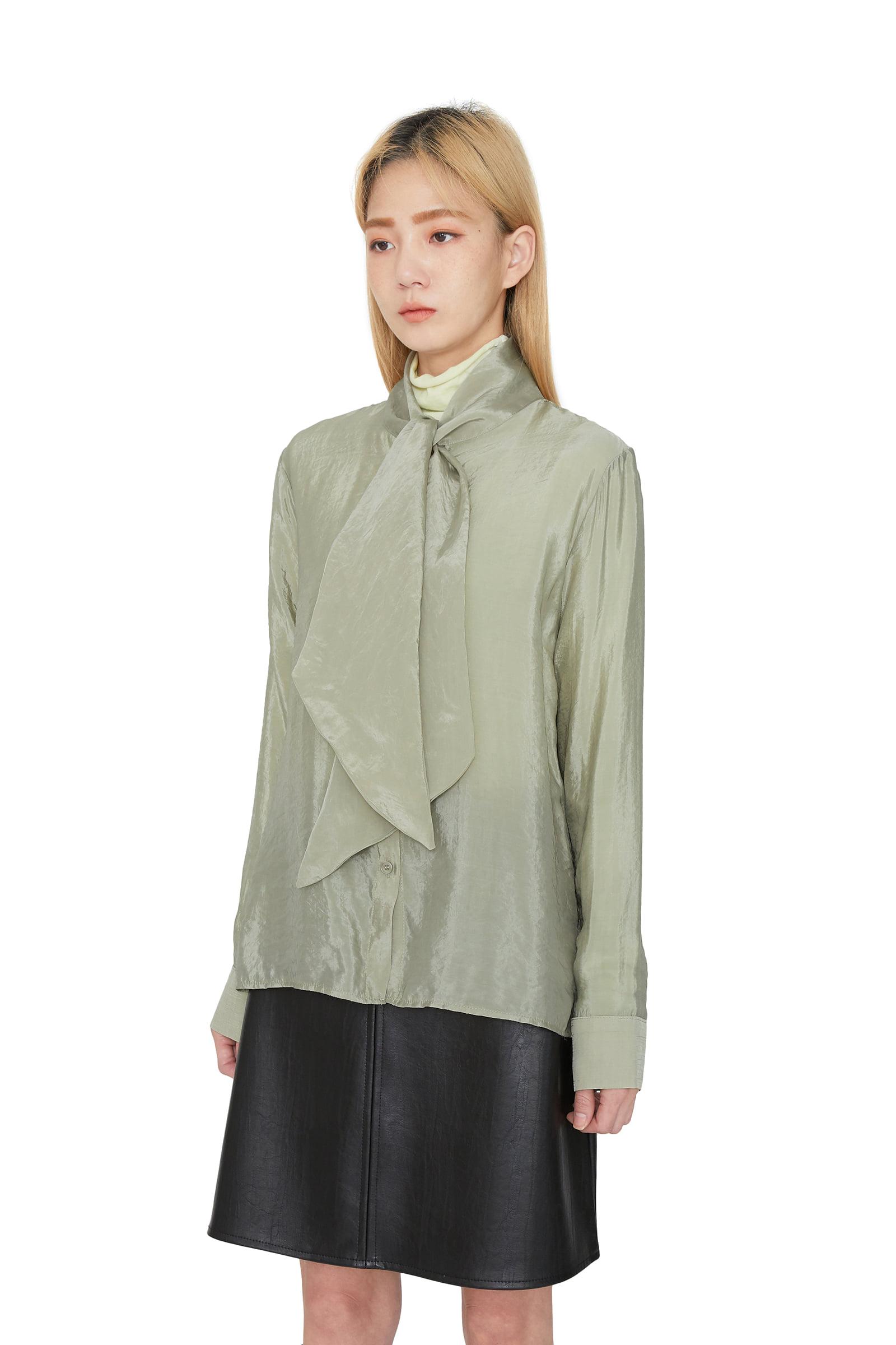 Merrin scarf silk blouse