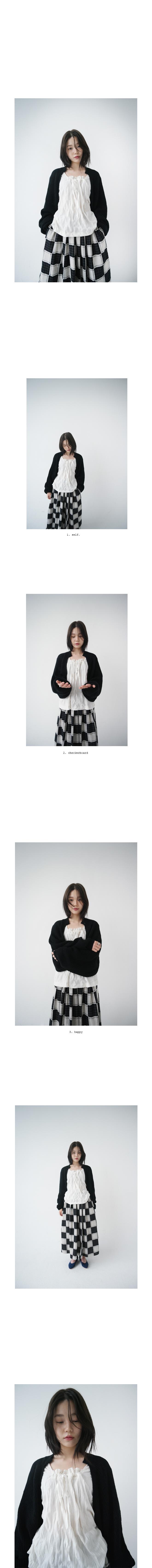 ripple square-neck blouse