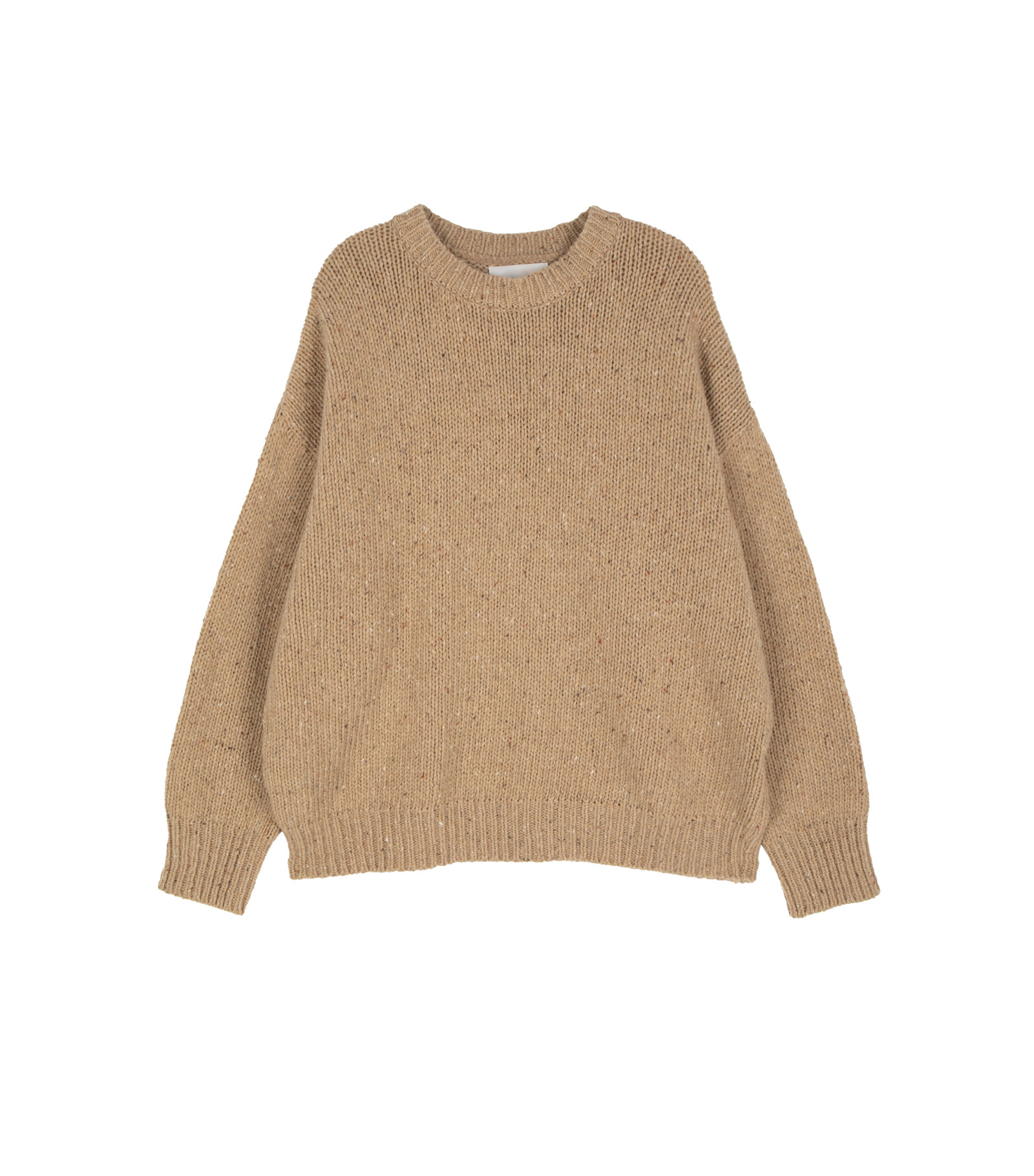 Middle shading crew neck knit