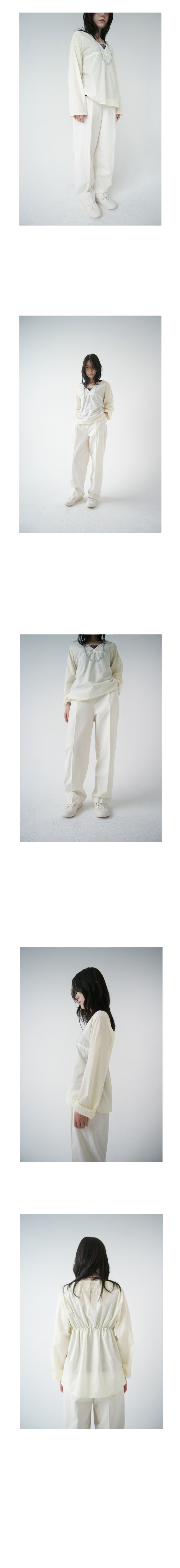 neat straight cotton pants