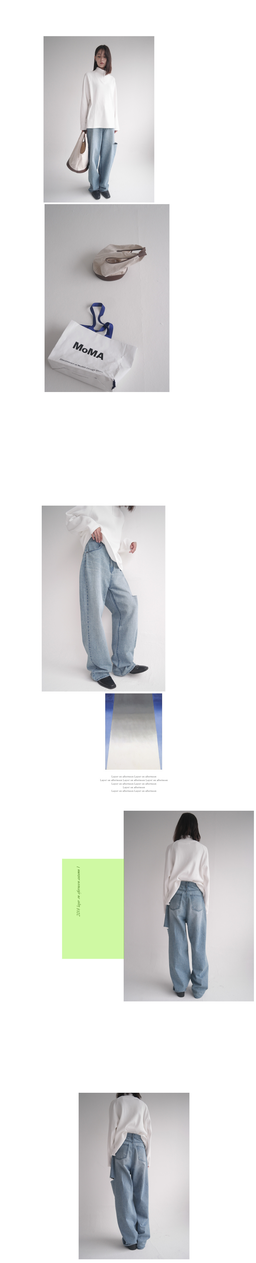 side cut-off denim pants (washing blue)
