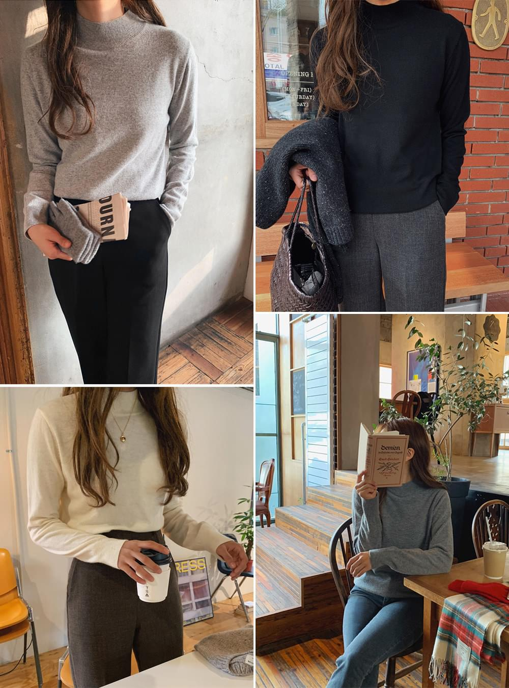 《Planned Product》 Light Cashmere Van Turtleneck Knitwear