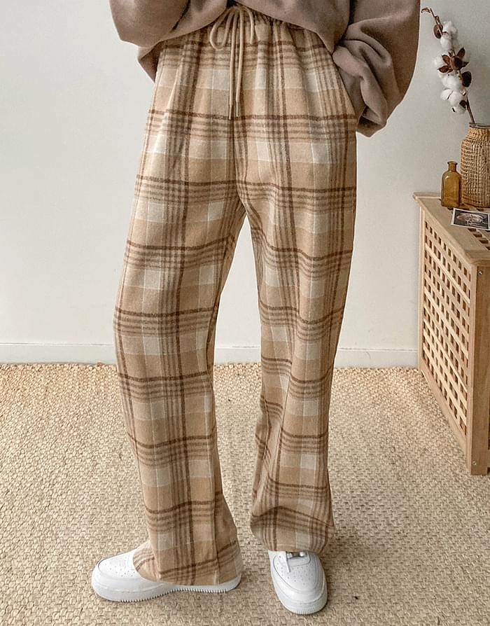 Raised Banding Check Pants