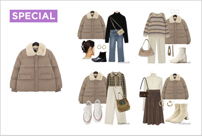 1 Padded Jacket 8 Styling : HAZE WELLON FUR COLLAR PADDING