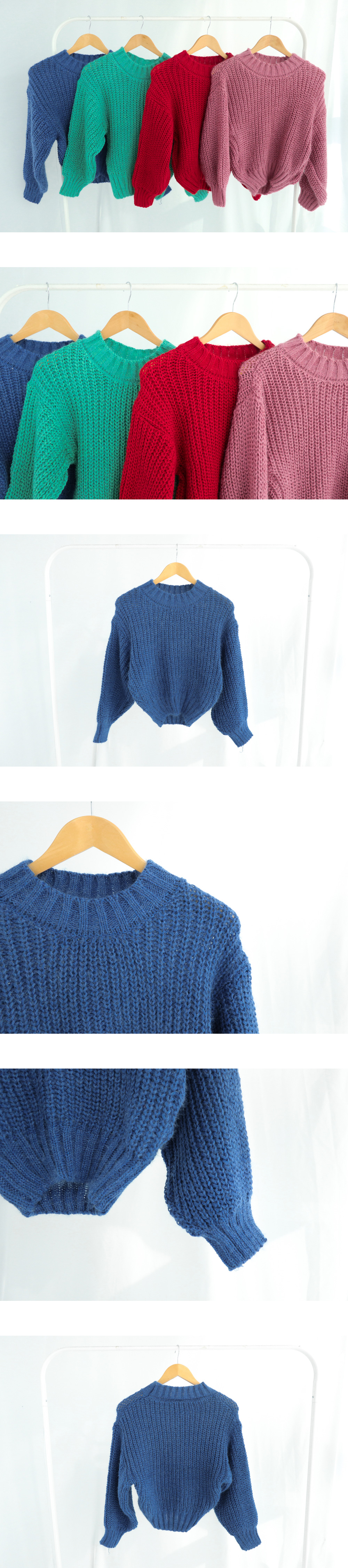 Fitted cropped knit
