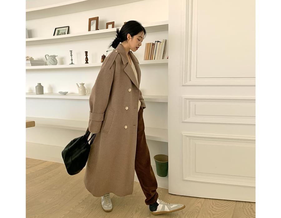 Double Alpaca Handmade Long Coat
