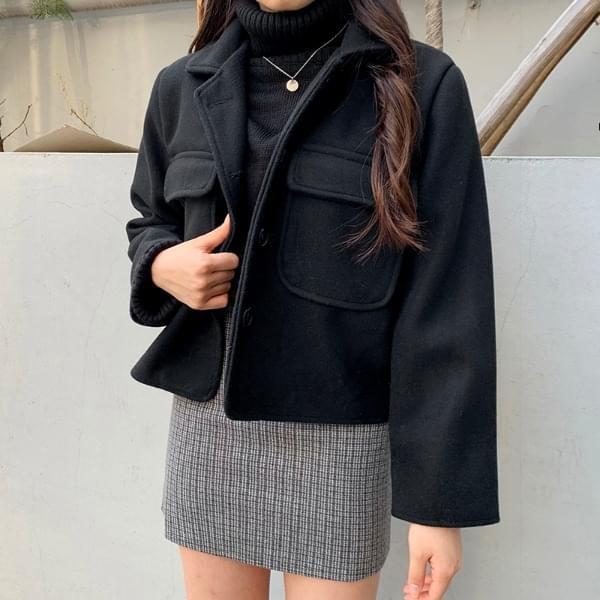 Rose pocket short coat
