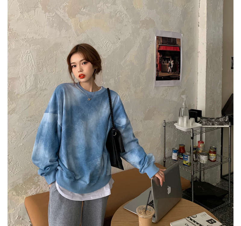 mh2807 dissolve tie-dye sweat shirt