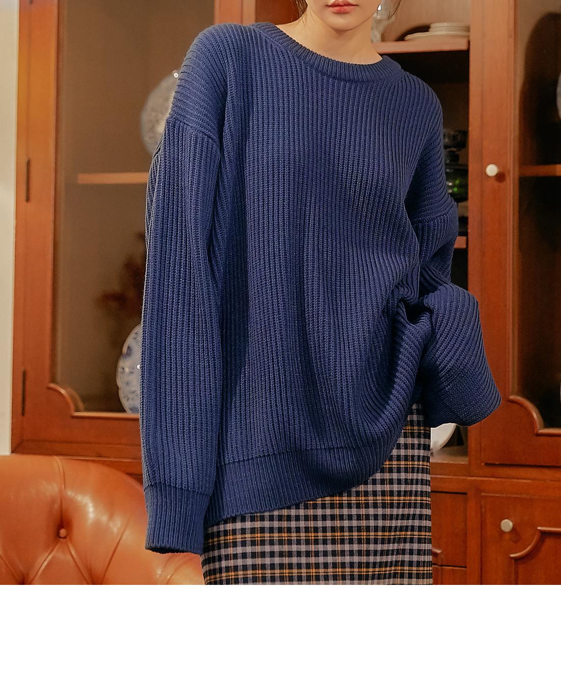 Ribbed Loose Knit Top
