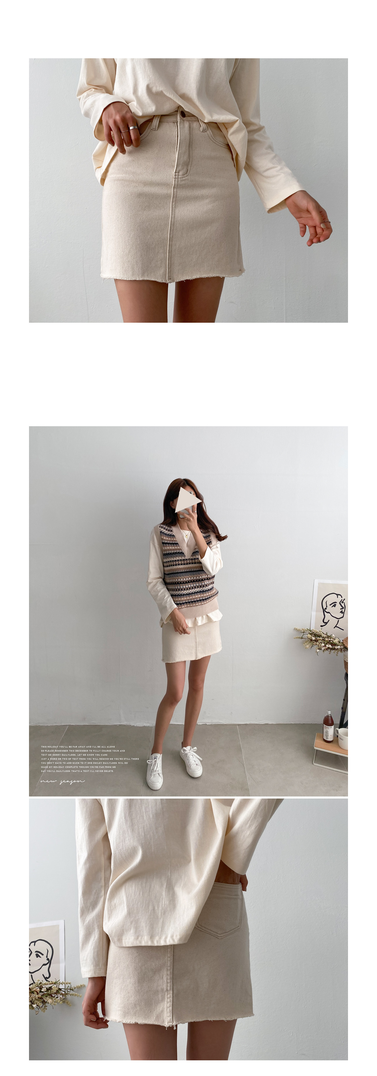 Casual A-line minimalist skirt #51273