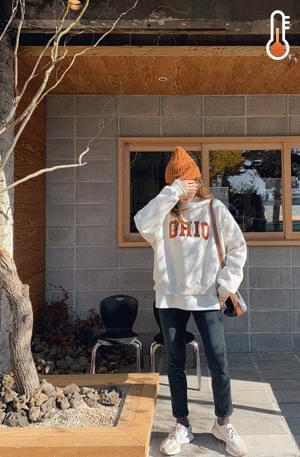 'OHIO' embroidery sweat shirt