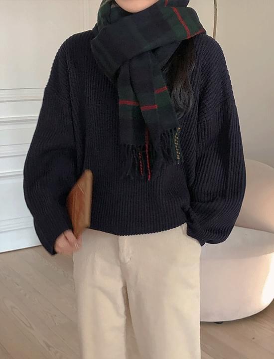Vogue check scarf