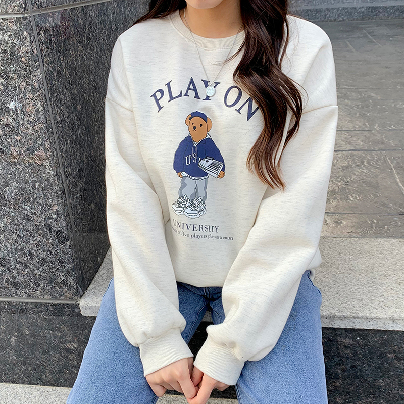 Play Bear Fleece-lined Sweatshirt