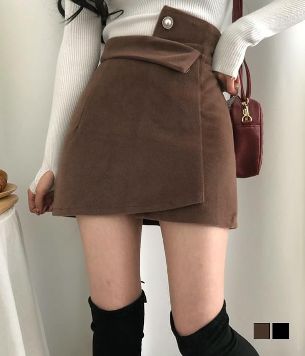 Cent Jeweled Mink Unfooted Mini Skirt